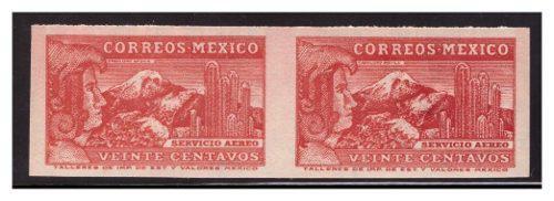 1937 Caballero Águila Sc C81c Imperforado Par Wmk 156 Mnh