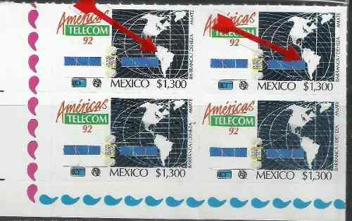 1992 Telecom Sc. 1723 Block Con Error Punto En Sur América