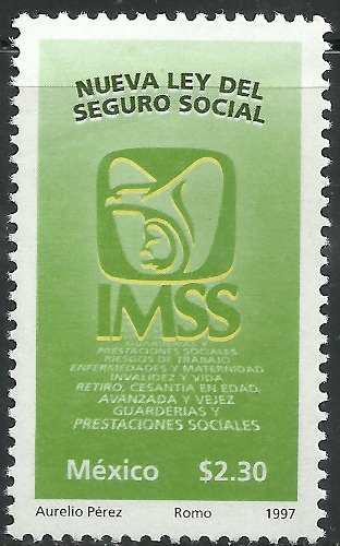 1997 Nueva Ley Del Seguro Social Sc. 2058 Sello Mnh Imss