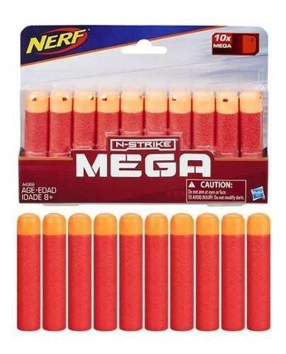 2 Paquetes De Repuesto De Dardos Mega Nerf N-strike 10x Mega