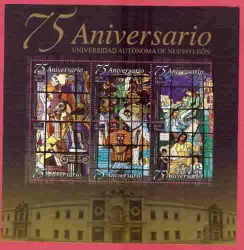 2008 Hoja Souvenir Vitrales Universidad Nuevo León Sc 2592