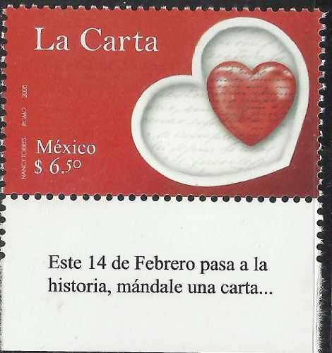 2008 La Carta Día Del Amor Y La Amistad Etiqueta Sc 2572