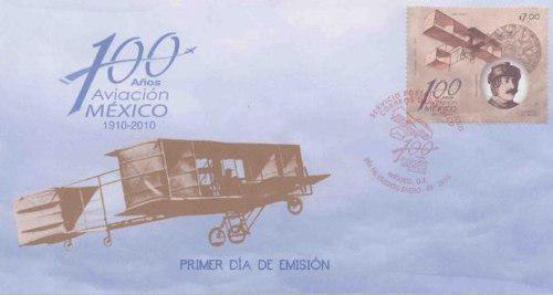 2010 Sobre Primer Dìa De Emisiòn 100 Años Aviaciòn En