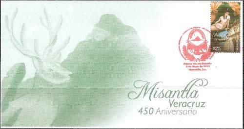 2014 450 Aniversario Misantla Veracruz Sobre Primer Día Fdc