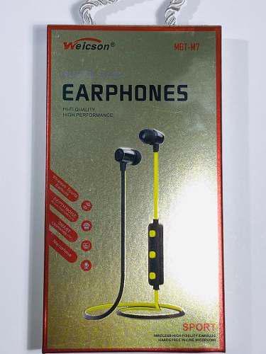 Audífonos Manos Libres Bluetooth Iman Super Bass Weicson