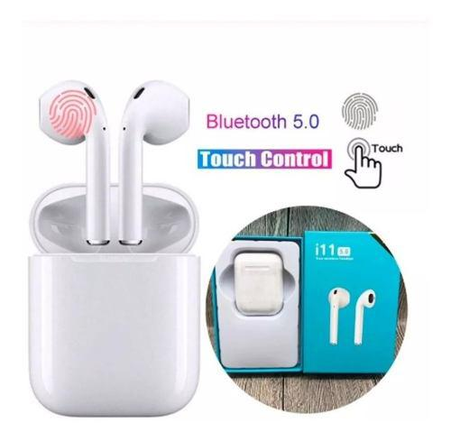 Audifonos AirPods I11s Bluetooth 5.0 Boton Carga Inalambrica