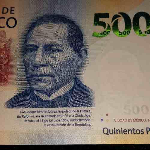 Billete Nuevo Sin Circular De 500 Pesos Serie A Familia G