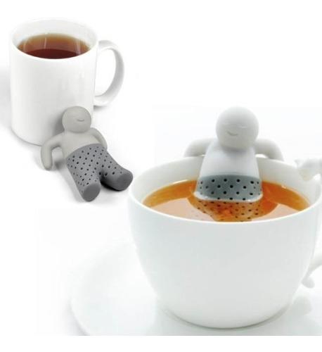 Infusor De Té Silicon Muñeco Mr Tea, Cafetera, Colador
