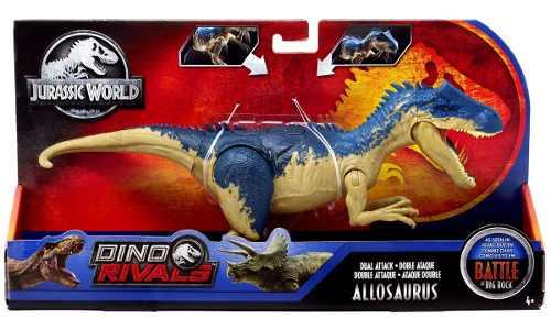 Jurassic Wolds Dino Rivals Doble Ataque Allosaurus
