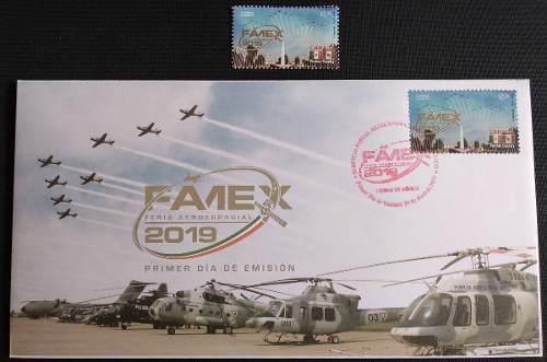 Mexico 2019 Fuerza Aerea Timbre Y Sobre Del 1er Dia Nuevos