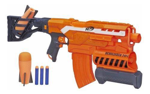 Nerf 2 En 1 Basuca Lanza Misiles Y Dardos Elite Demollisher