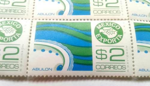 Timbres Postales México Exporta Abulon