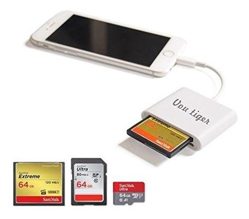 Adaptador De Tarjeta Cf Para iPhone iPad Mini Air Sd / Tf /