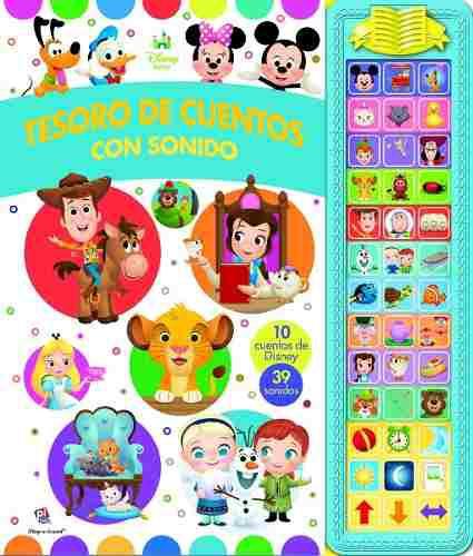 Libro De Cuentos Con Sonido Disney Baby Envío Gratis