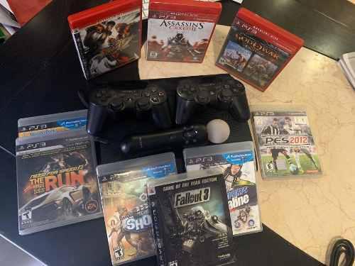 Playstation 3, 250 Gb, 2 Controles Y 1 Ext., 9 Juegos