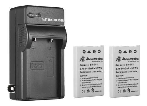 2 Baterias En-el5 + Cargador Nikon