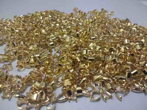 20 Pz Porta Dije Atrapa Cristal Chapa De Oro 14k