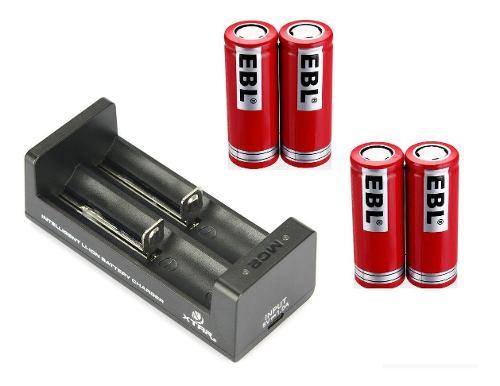 4 Pila Bateria  Ebl  Mah + Cargador Doble Xtar