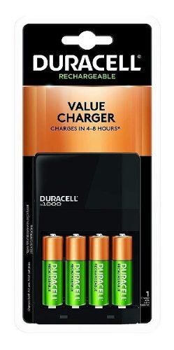 Cargador Baterías Duracell Recargables Aa Aaa + 4 Pilas Aa