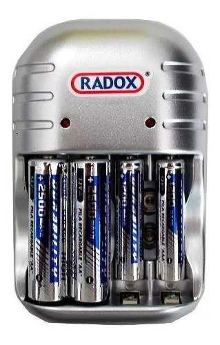 Cargador De Baterías Para Aa, Aaa Y 9v Incluye 2 Aa Y 2 Aaa