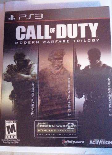 Juego Call Of Duty Modern Warfare Trilogy Ps3 Nuevo Origin