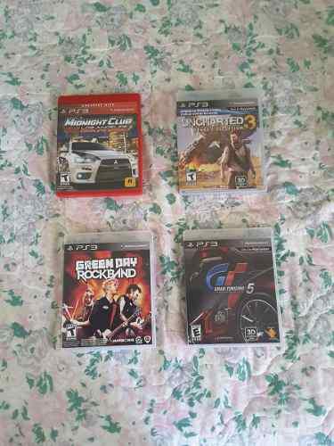 Juegos Ps3: Gran Turismo, Midnight Club, Uncharted 3 C/u