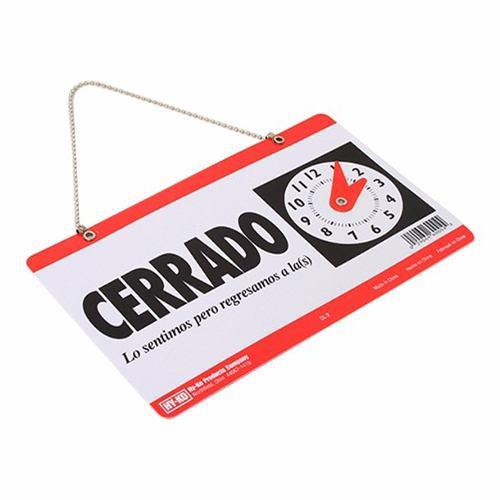 Letrero De Abierto-cerrado Con Reloj Y Ventosa 10pz Pack