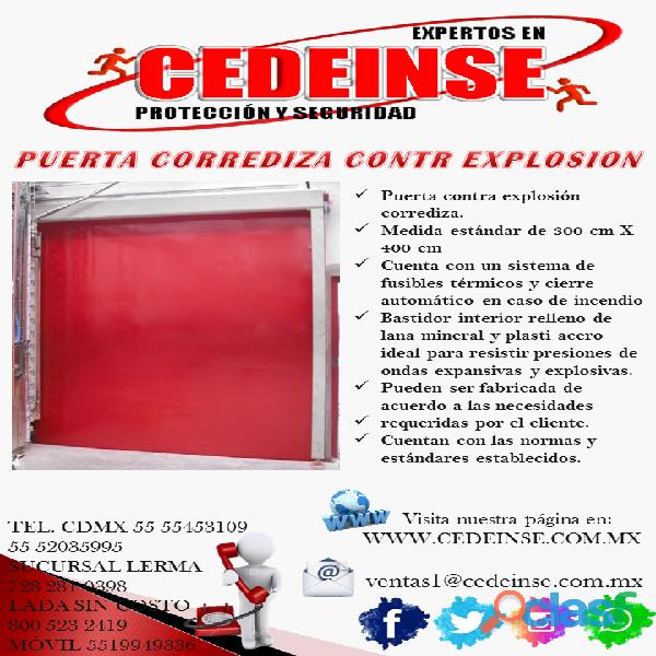 Puerta Corrediza Contra Explosión CEDEINSE