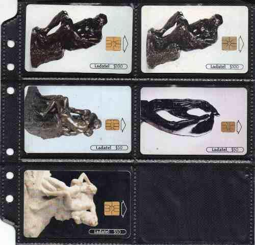 Tarjetas Telefonicas Serie A Rodin Iii Esculturas