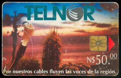 Tn13 Telnor Fibra Optica Y Cactus 50p Chip Gem