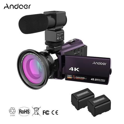 Andoer 4k 1080p 48mp Wifi Digital Vídeo Cámara De La