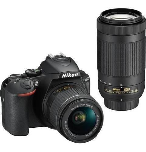 Camara Nikon D5600 Con Af-p Doble Lente 18-55mm Vr 70-300mm