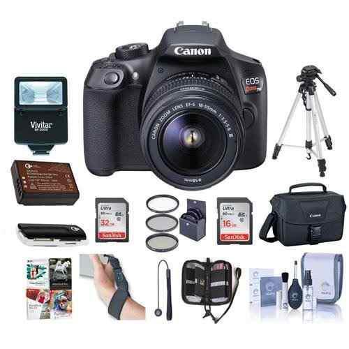 Cámara Digital Canon Eos Rebel T6 Dslr Con Ef-s 18-55 Mm F