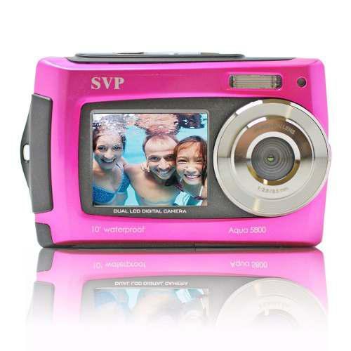 Cámara Digital Resistente Al Agua Svp Aqua 5800 Color Rosa
