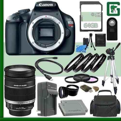 Cámara Réflex Digital Canon Eos Rebel T3 Y Lente De 18-200