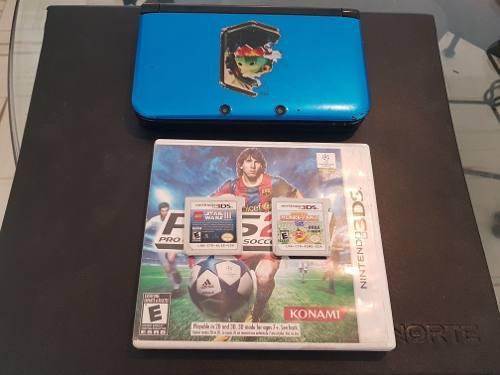 Consola 3ds Xl En Buenas Condiciones Con 3 Juegos Barata ++