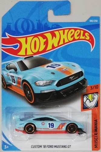 Ford Mustang Gt '18 Gulf Hot Wheels