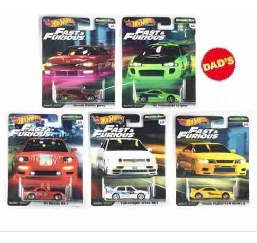 Hot Wheels Fast And Furious Set Premium 5pz Llantas De Goma
