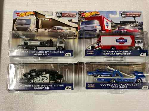 Hot Wheels Team Transport Serie F 4 Pzs Jaguar Skyline Ford