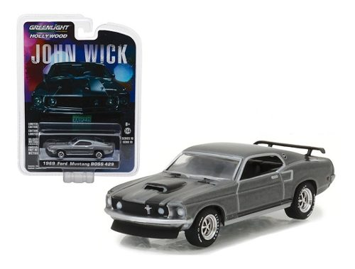 John Wick Ford Mustang  Boss Diecast 1:64 Greenlight