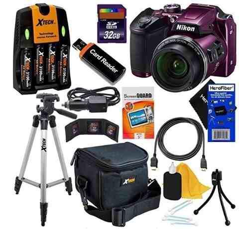 Kit Cámara Digital Nikon Coolpix B500 (púrpura) 12