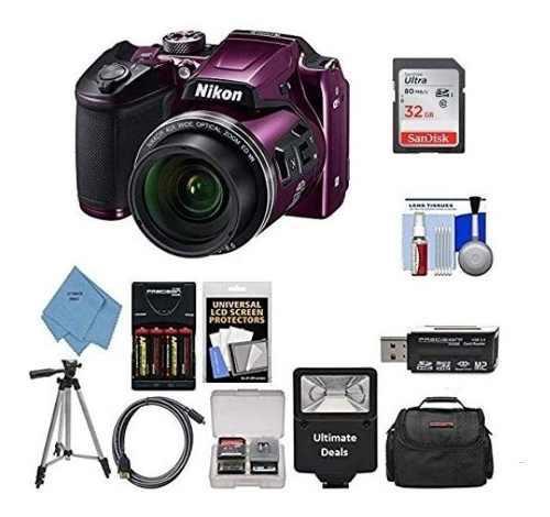 Kit Cámara Digital Nikon Coolpix B500 (púrpura)+11