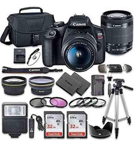 Kit Profesional Camara Reflex Digital Canon Eos Rebel T7
