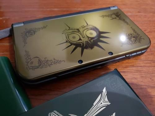New 3ds Xl Edicion Especial Zelda Majoras Mask Estetica 9.5