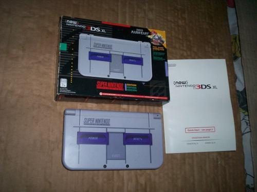 New Nintendo 3ds Xl Snes Edicion Super Nintendo Con Caja