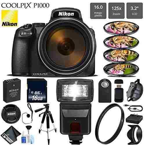 Nikon Coolpix P1000 Cámara Digital 16mp 125x Zoom Óptico Y