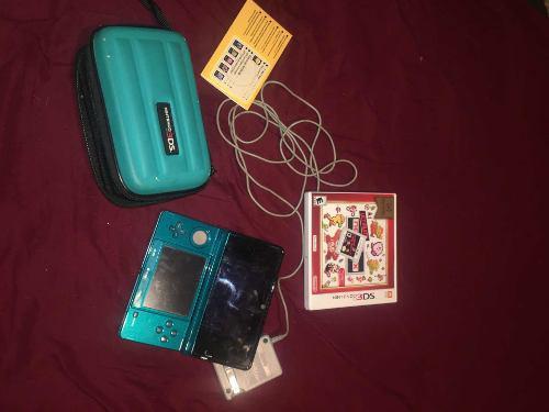 Nintendo 3ds Turquesa Con Estuche Y Juego