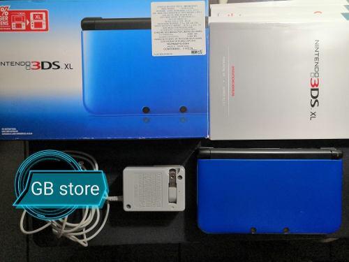 Nintendo 3ds Xl Azul Con Caja Y Mario Kart 7 Y Cargador