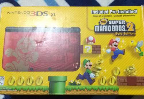 Nintendo 3ds Xl Edición Limitada Mario Bros 2 Gold Edition