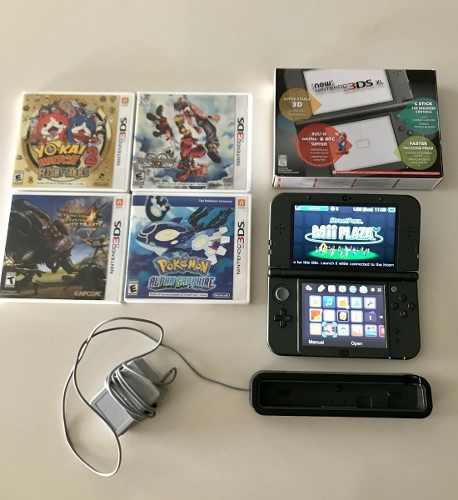 Nintendo 3ds Xl New + 4 Juegos, Pokemon + Dock + 32gb Sd Msi